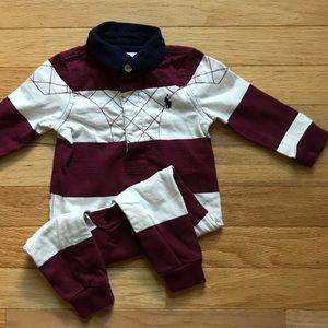 Ralph Lauren Baby Boy Polo Pant Romper (size 6 mo)
